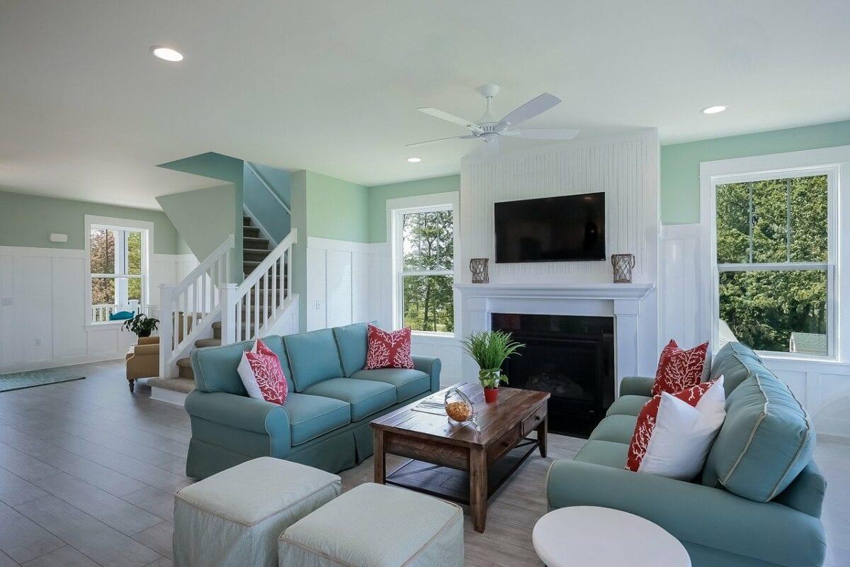 Innenansicht eines Einfamilienhauses