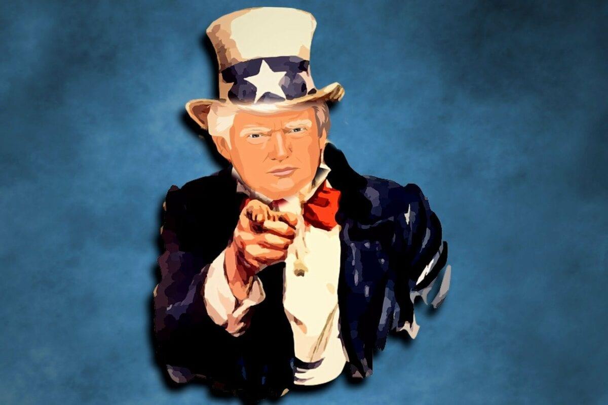 Donald Trump als Uncle Sam