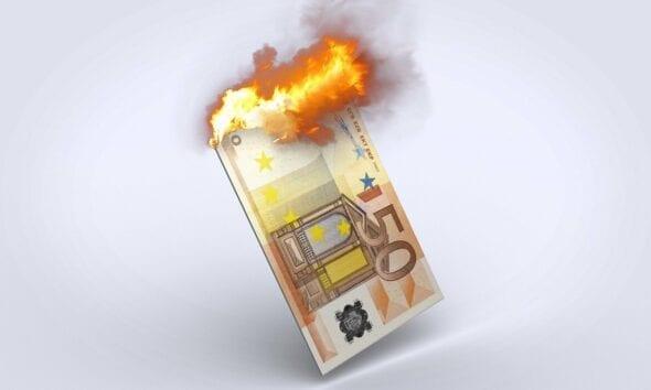 50 Euro Geldschein brennt