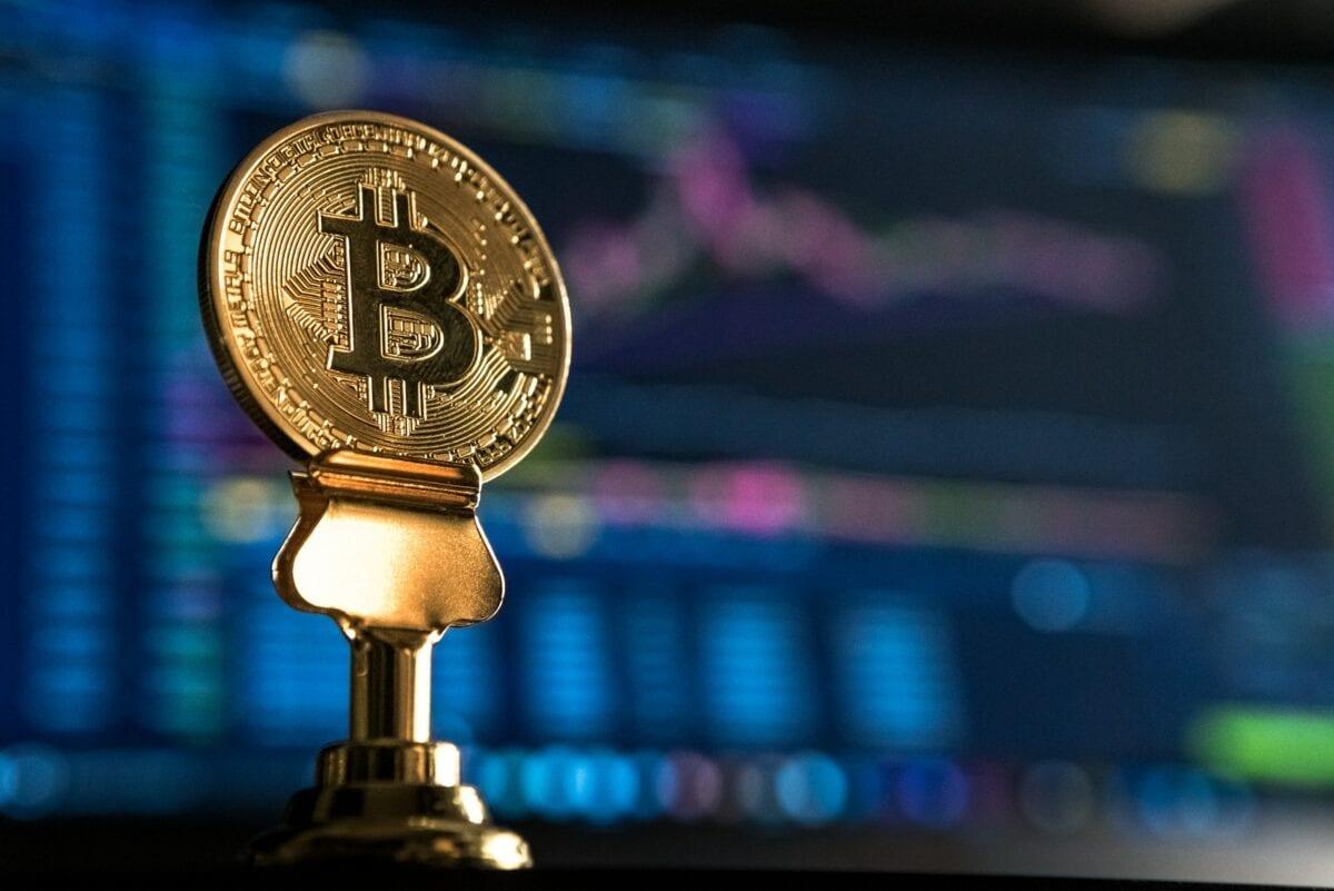 Symbolische Darstellung eines Bitcoin