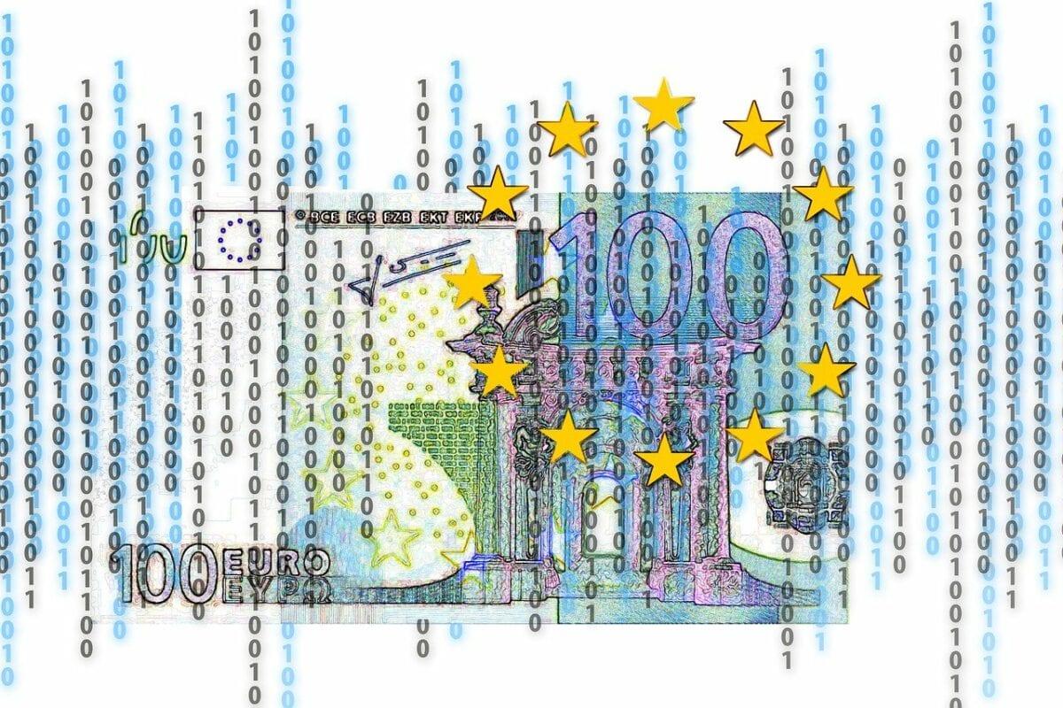 Digitaler Euro als symbolische Grafik