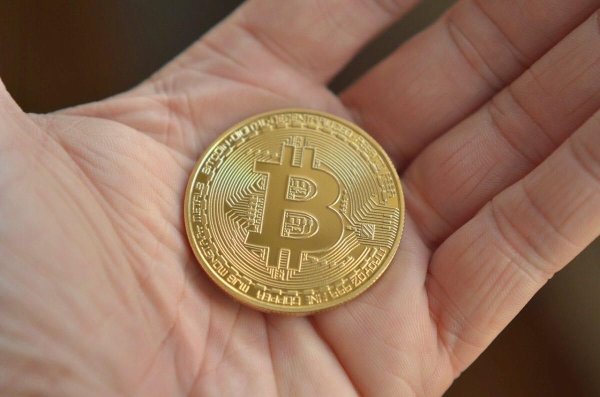 Symbolische Bitcoin-Münze