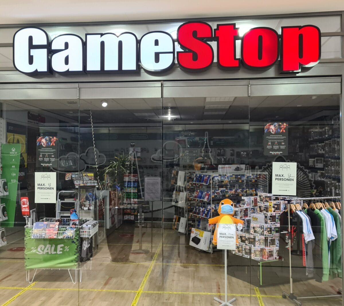Ein Gamestop-Laden in Wiesbaden