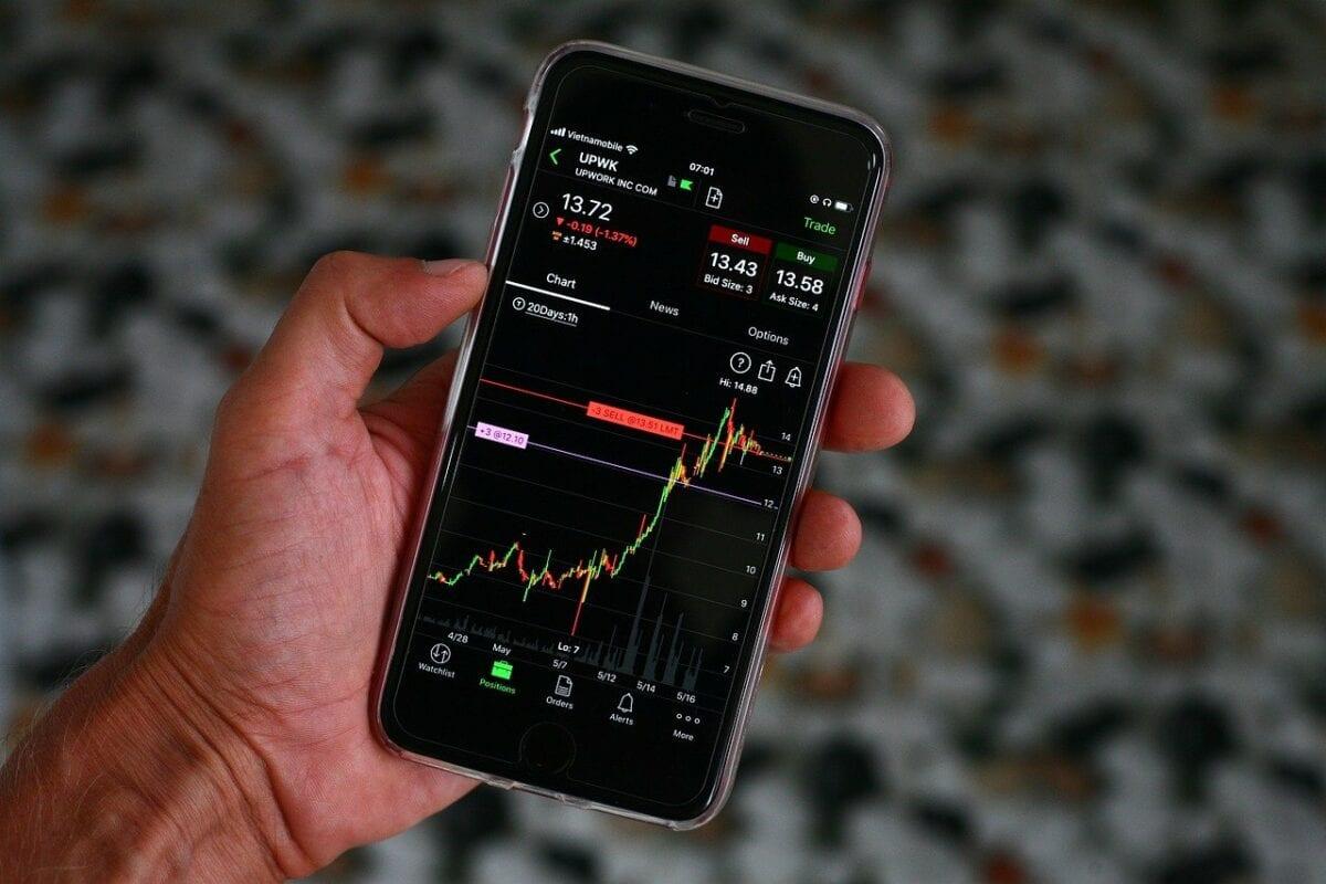 Trading in Aktien über Handy App