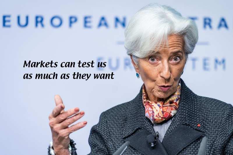 """Wird Christine Lagarde wieder versuchen, gegen steigende Anleiherenditen """"wettern""""?"""