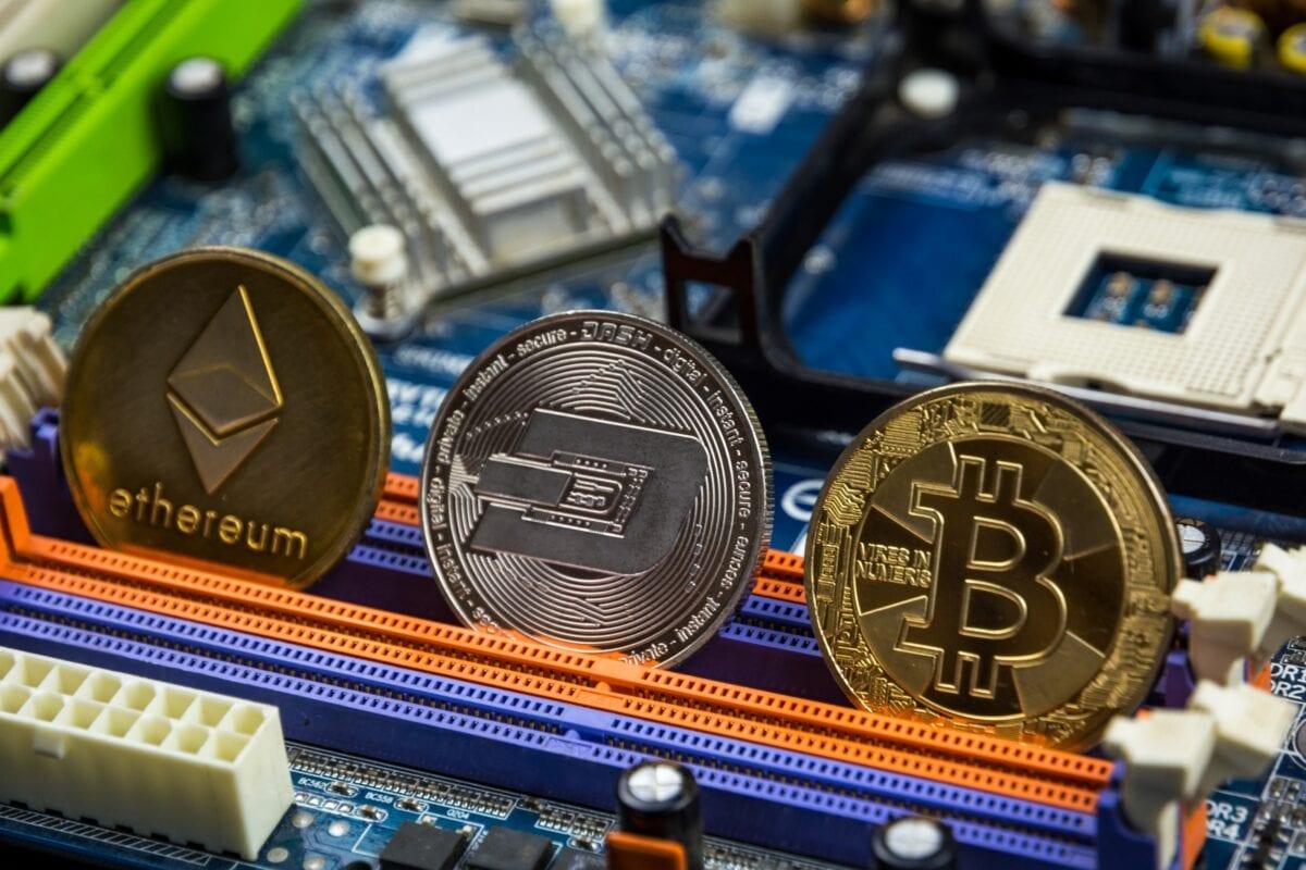 Große Kryptowährungen werden auf Coinbase gehandelt