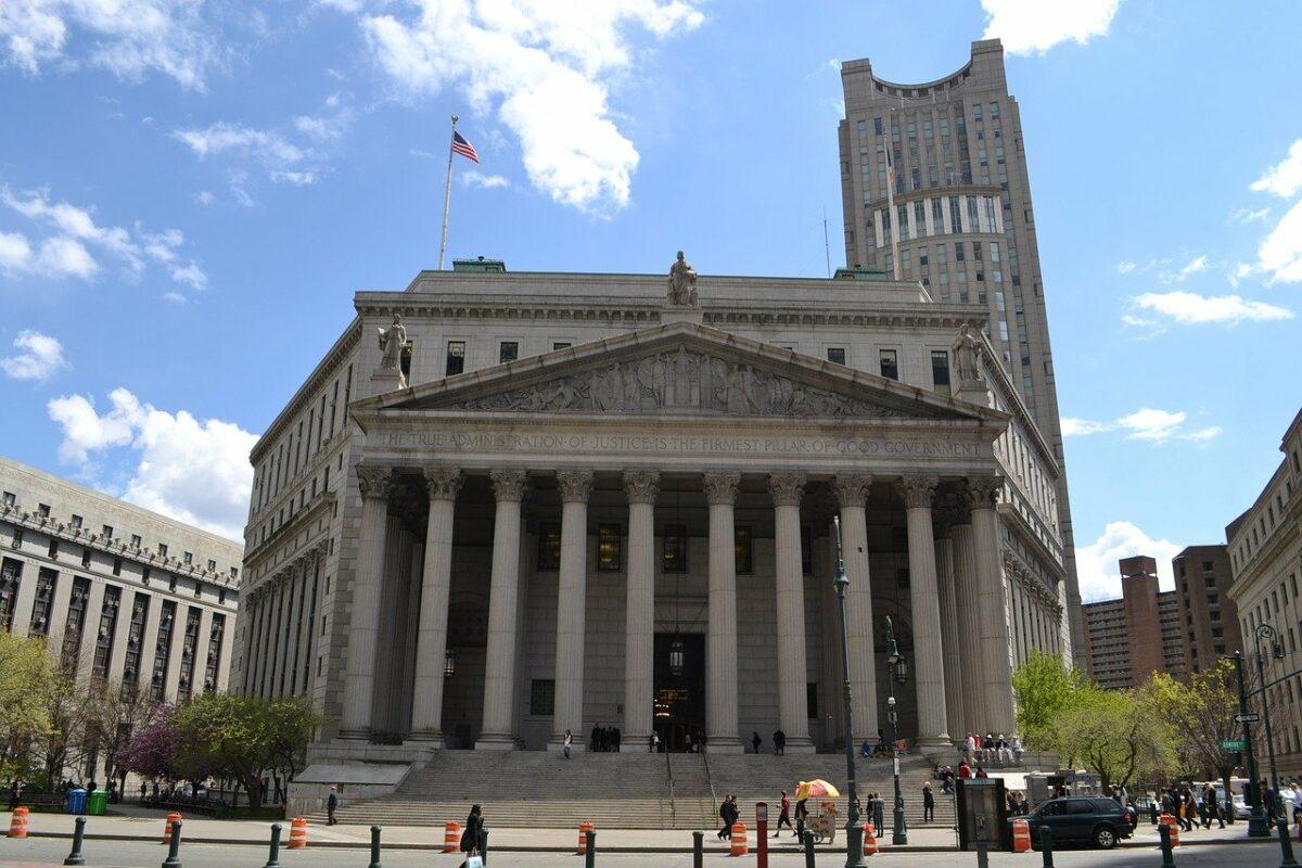 Ein Gerichtsgebäude in New York