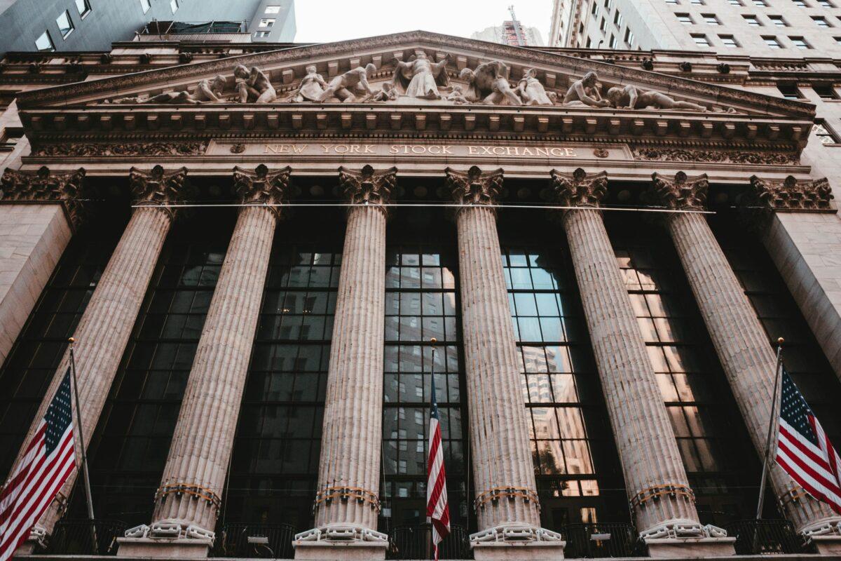 Frontansicht der New York Stock Exchange
