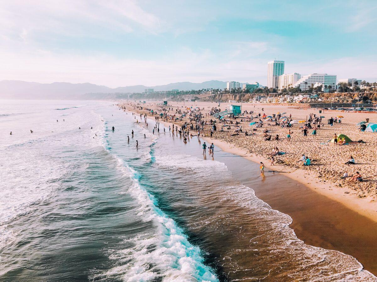 Der Santa Monica Beach in Kalifornien