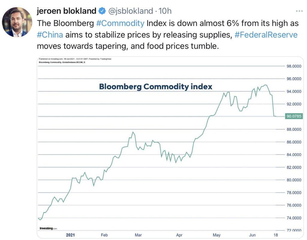 Wegen der Fed: Rohstoffe im Sinkflug
