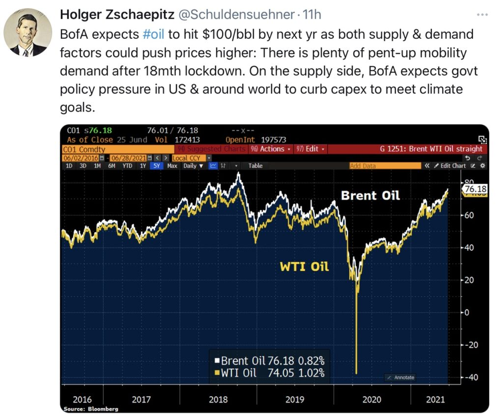 Öl - bald bei 100 Dollar?