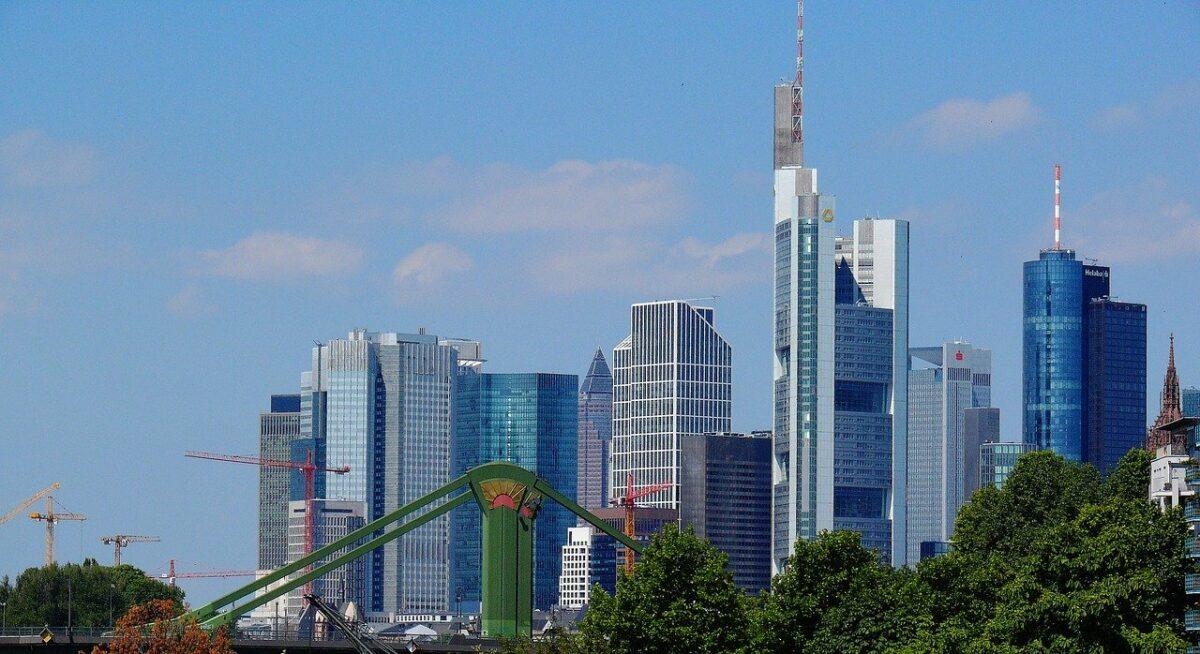 Hochhäuser der Banken in Frankfurt