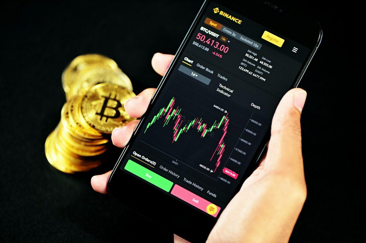 Krypto-Trading über Handy App