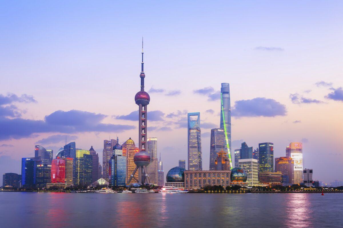 Skyline von Shanghai als Symbol für das aufsteigende China