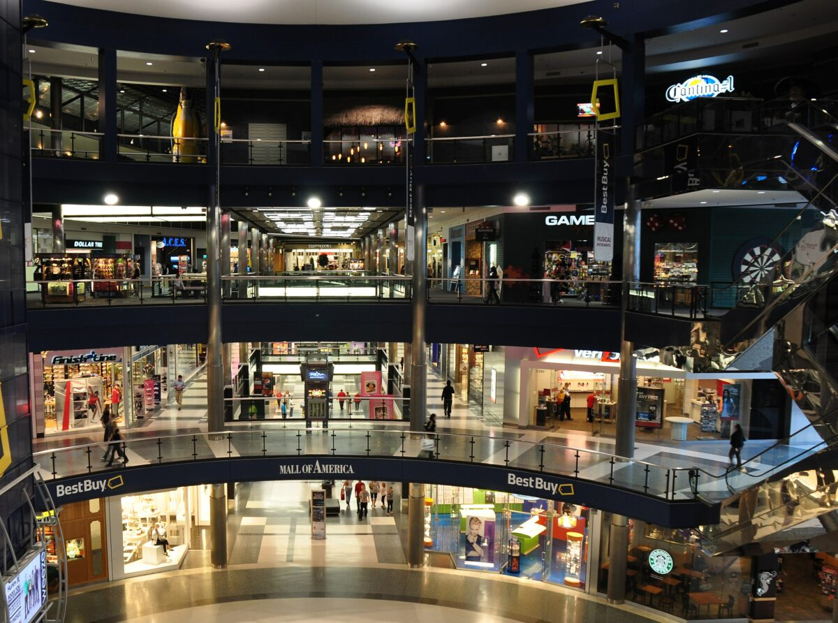 Die Mall of America in Minnesota