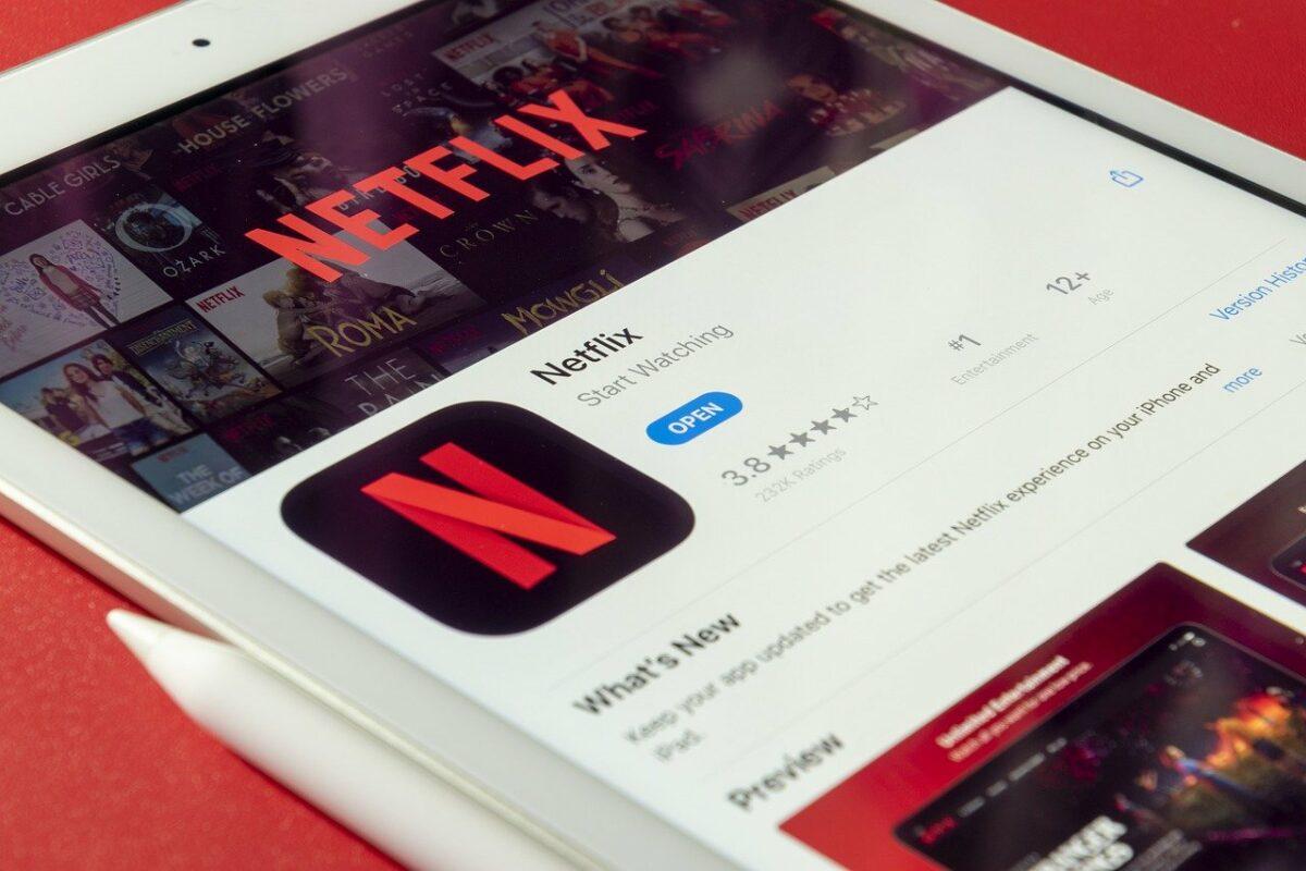 Netflix App auf Tablet