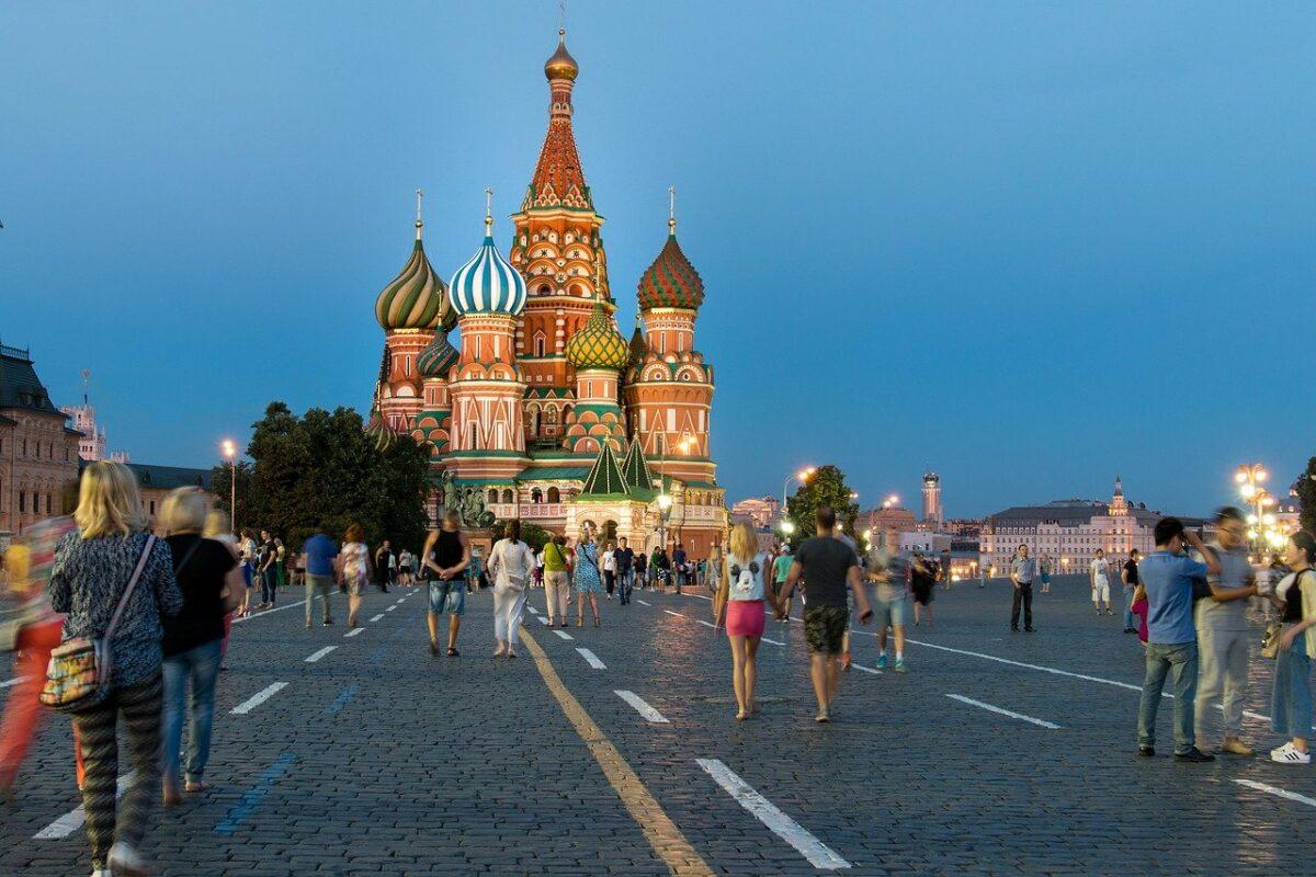 Roter Platz in Moskau als Symbol für Russland