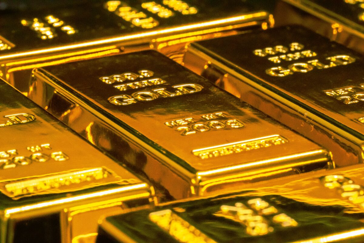 Mehrere Barren aus Gold