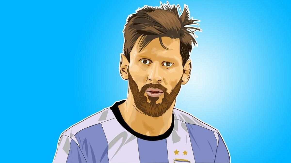 Zeichnung von Lionel Messi