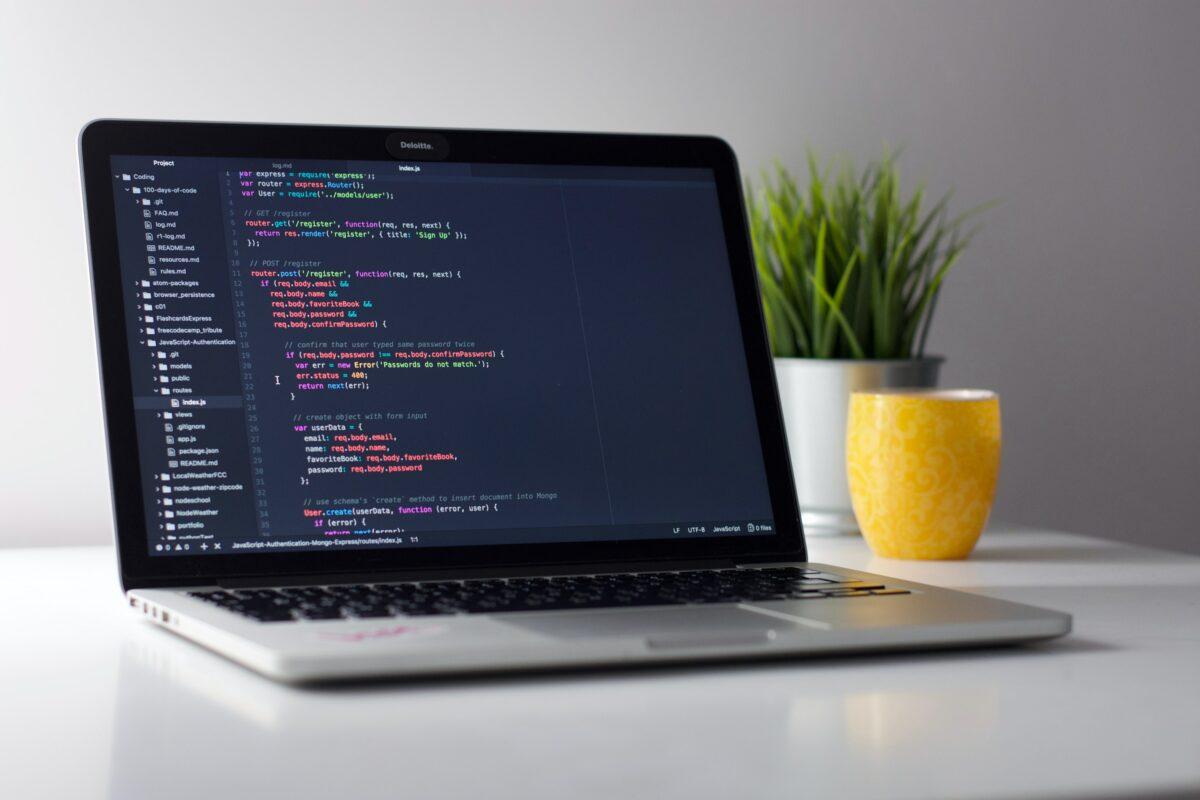 Programmierzeilen auf deinem Bildschirm