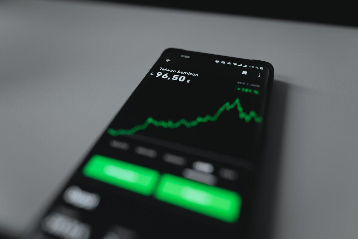 Aktienchart auf Handy App