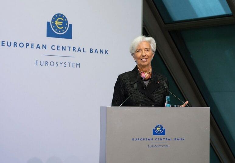 Christine Lagarde bei ihrer Pressekonferenz