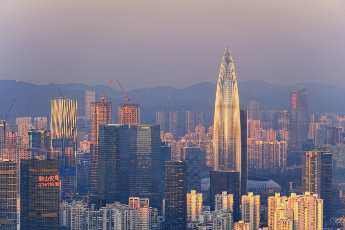 Die Metropole Shenzhen in China