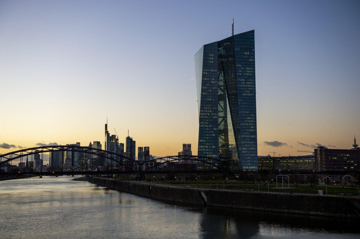 Der EZB-Tower in Frankfurt