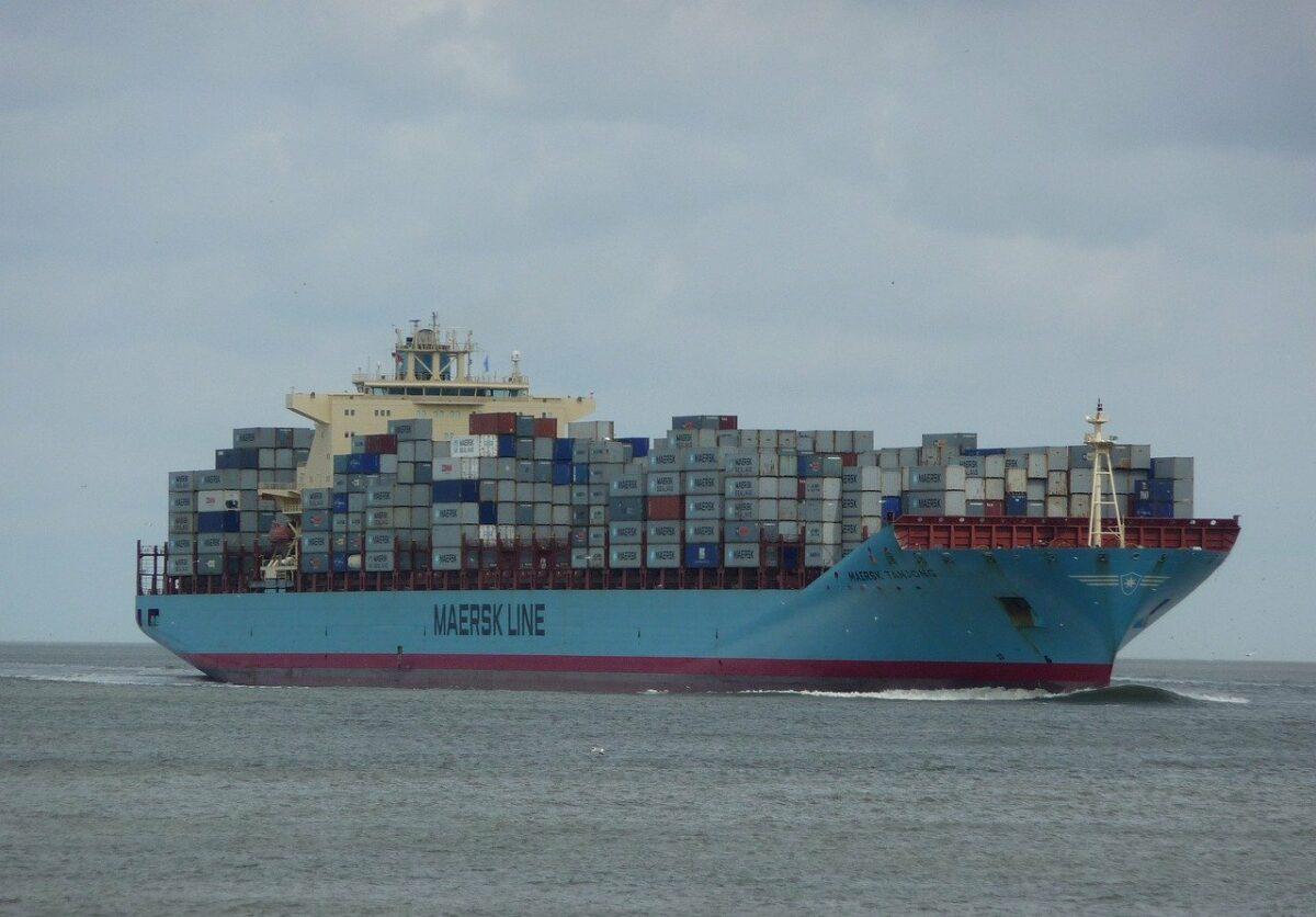 Containerschiff von Moeller‑Maersk