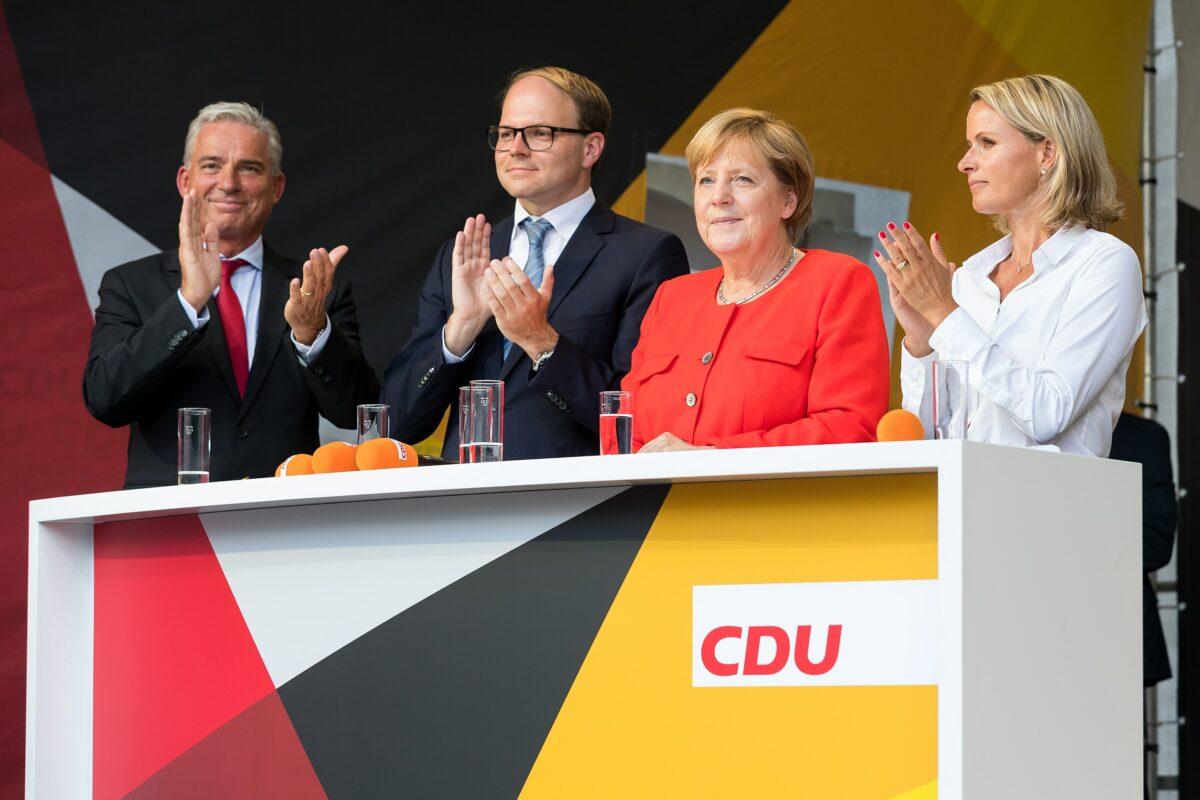 Angela Merkel beim Wahlkamp für die Bundestagswahl 2017