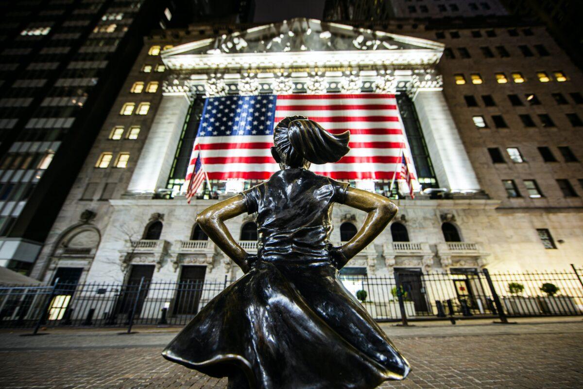 Statue vor der New York Stock Exchange