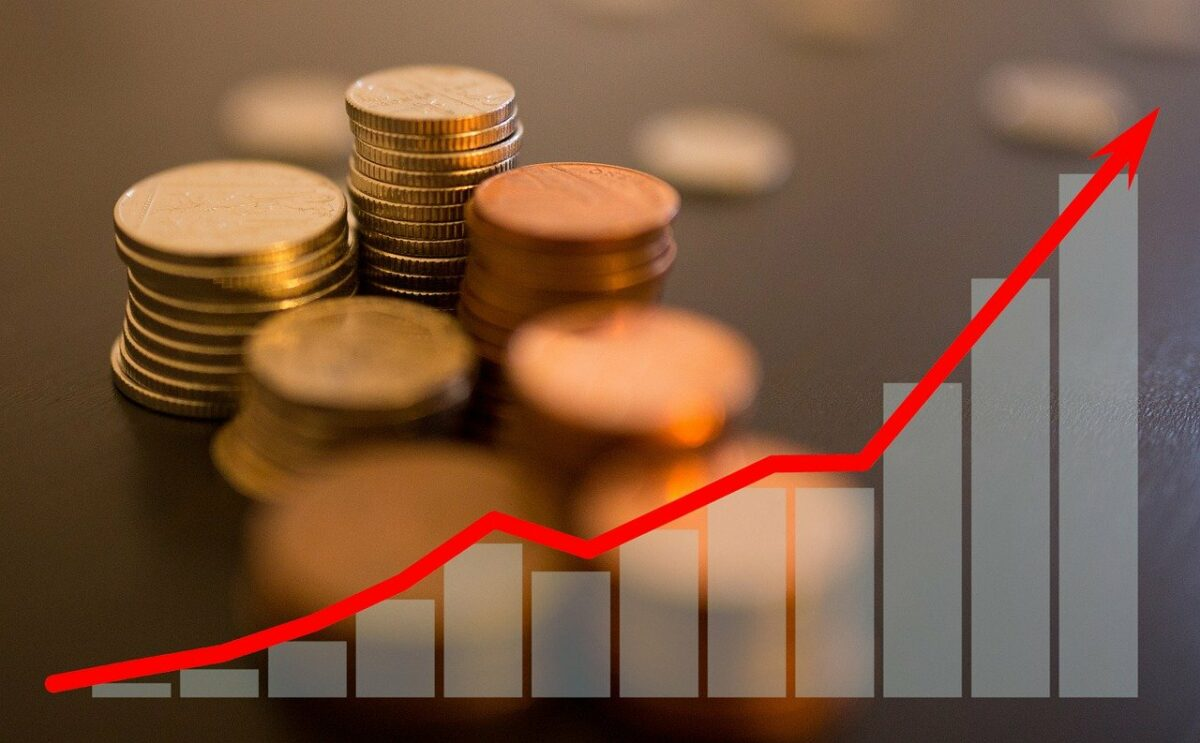 Münzen und Chart