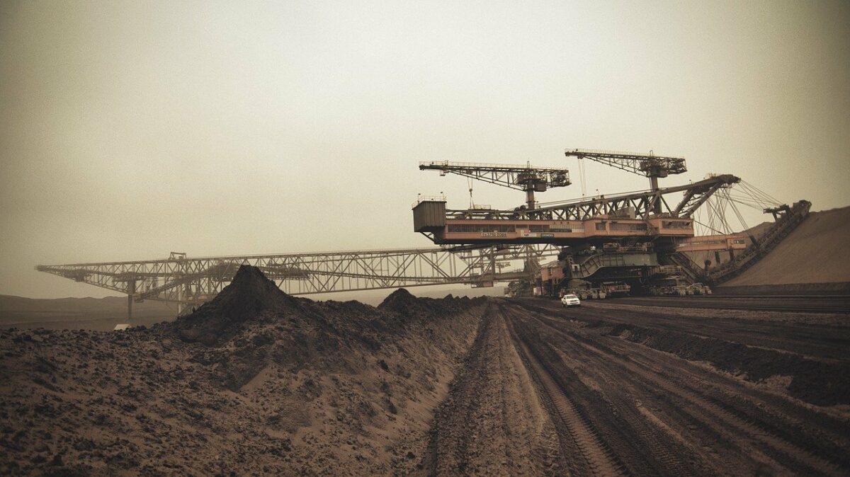 Abbau von Kohle