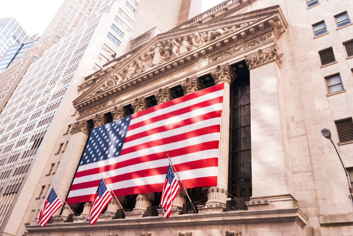 Gebäude der Börse in New York ist das Symbol der US-Aktienmärkte